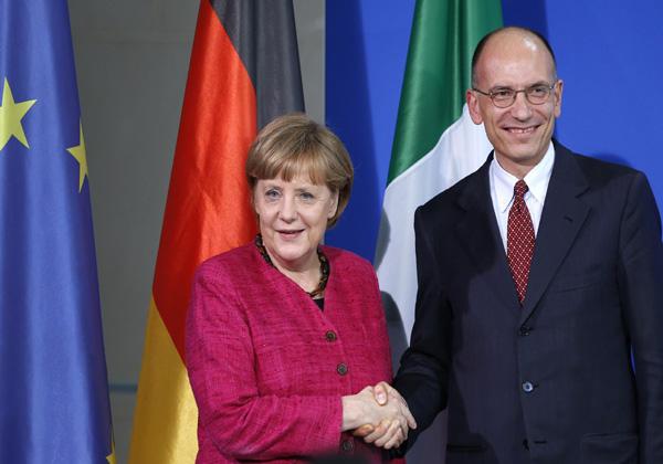 Angela Merkel Enrico Letta